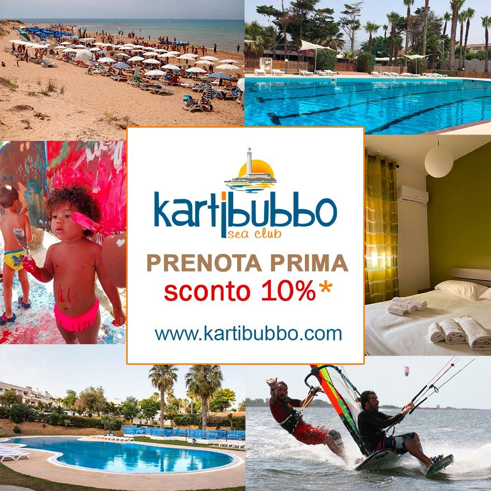 prenota prima le tue vacanze a Kartibubbo
